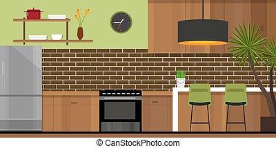 kitchen interior furniture house