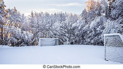 Soccer Pirch in Winter