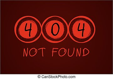 Error - 404 Error Page with grunge circles Vector for your...