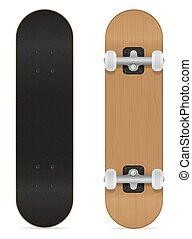 skateboard vector illustration