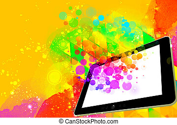 Creativity on a digital tablet