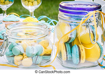 Candy bar - Sweets on a plate that is on the table on a...