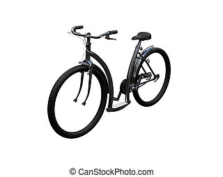 Bicycle isolated moto front view 02 - isolated bicycle on...