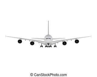 Big Airplane - isolated big airplane on a white background