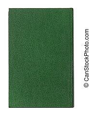 täcka, isolerat, bok, grön, bakgrund, vit
