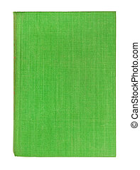 lätt, täcka, isolerat, bok, grön, bakgrund, vit