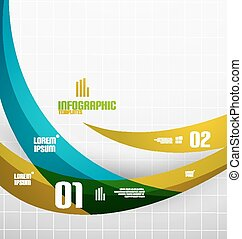 Modern fresh wave business infographics. Flowing wave shapes...