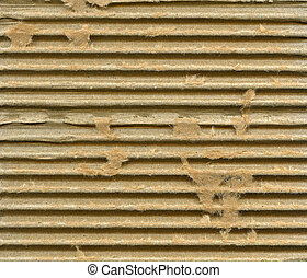 Ribbed cardboard - Textured corrugated striped cardboard...