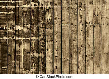 Wooden planks - Weathered striped textured uncolored wooden...