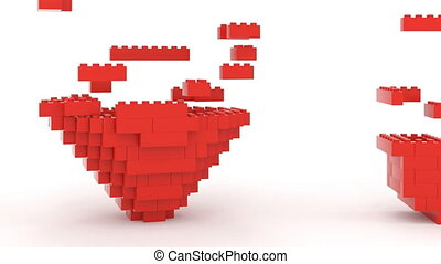 Toy Bricks I Love U - Toy bricks building love U message...