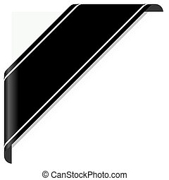 black mourning banner - mourning concept with black...