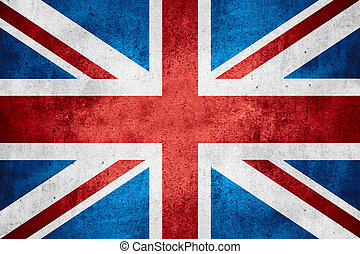 flag of United Kingdom or British banner on rough pattern...