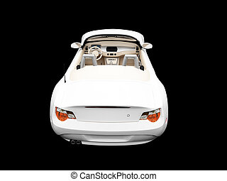 isolated white car back view 02 - isolated white cabriolet...