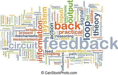 feedback wordcloud concept illustration