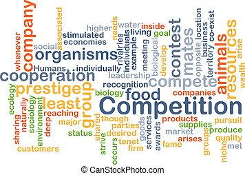 competition wordcloud concept illustration