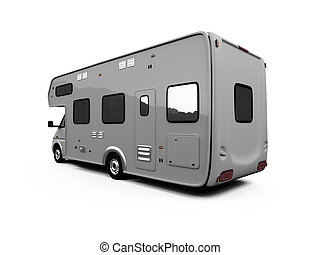 Camper isolated view - isolated camper on white background