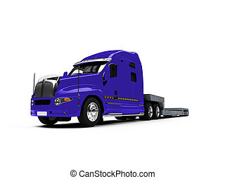 Car carrier truck front view - isolated car carrier truck...