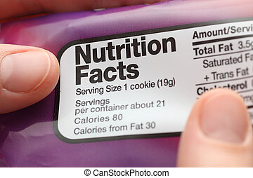 Nutrition facts - Reading a nutritional facts on cookies...