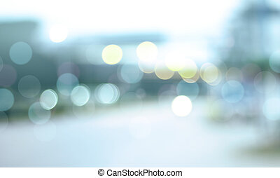 Defocused city night filtered bokeh abstract background