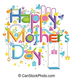 Mother's Day Backgroud - easy to edit vector illustration of...