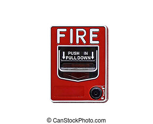 fire break glass  with firefighter's phone jack