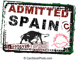 Immigration Stamp - Spain - Vector Graphic