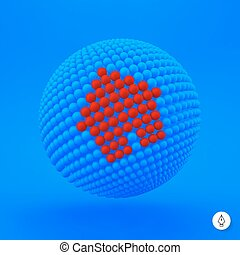 3d home icon. Web sign.