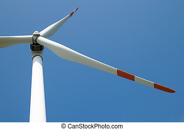 single wind turbine detail