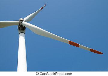single wind turbine detail