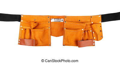 empty tool belt isolated on white