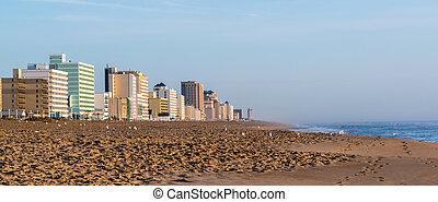 Early Morning on Virginia Beach - Sunrise on the beach in...