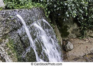 montanha, monchique, água, famosos, s, puro, vila, fresco,...