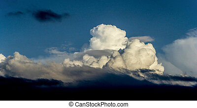 Clouds on a blue sky - Picture of a Clouds on a blue sky
