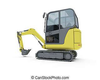 Construction truck isolated view - Isolated construction...