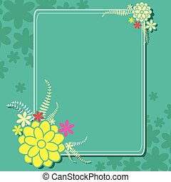 Floral background with blank space - vector illustration of...