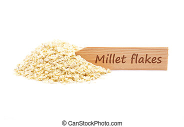 Millet flakes at plate