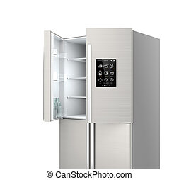 Smart refrigerator with LCD screen - Opened Smart...