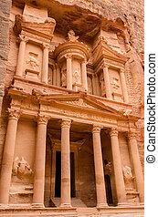 Jordan, Petra Treasury - Jordan, Petra Majestic Treasury...