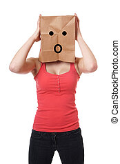 shocked paper bag girl