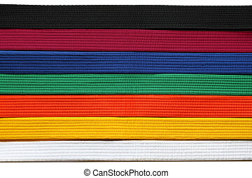 Taekwondo Belts - Martial Art belts in seven colors...
