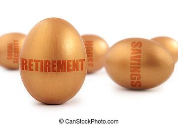 Retirement nest egg - Gold retirement nest egg as well as...