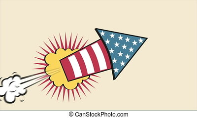 Rocket Video animation - USA Rocket Cartoon, Video...