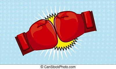 Boxing cartoon - Punch cartoon, Video animation, HD 1080