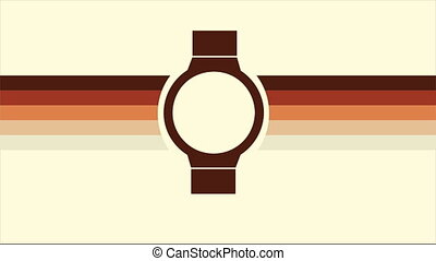 Time Video animation - Watch with retro colors, Video...