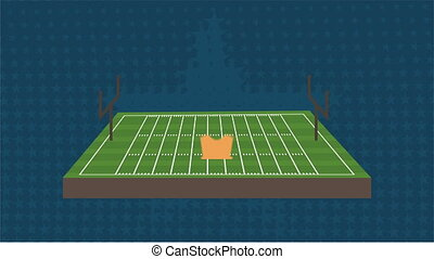 Football Video animation - Football field and ball, Video...