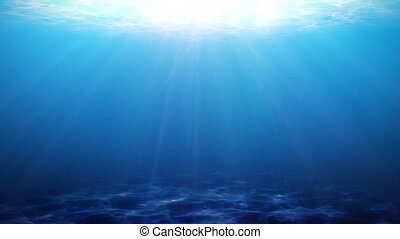 Beautiful Underwater Scene Looped Animation HD 1080