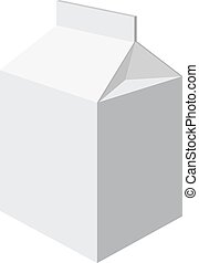 milk packet - Milk packet isolated on a white background....