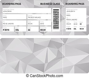 Boarding pass - Airline boarding pass ticket for business...