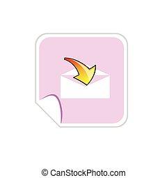 letter envelope arrow button vector