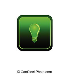 eco bulb sticker green vector